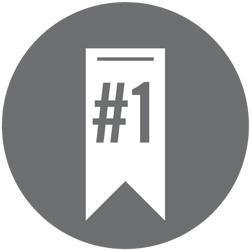 #1 ribbon icon
