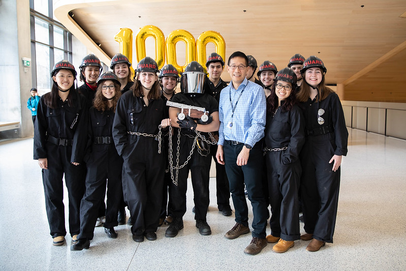 Dean Yip with students