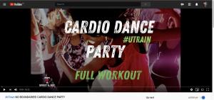 Screenshot of workout video